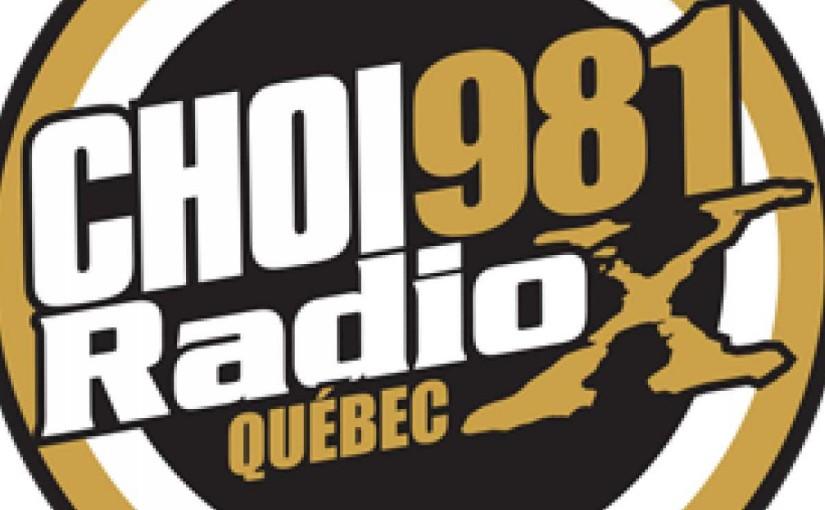 Crypto.Québec à CHOI FM Radio X 98.1