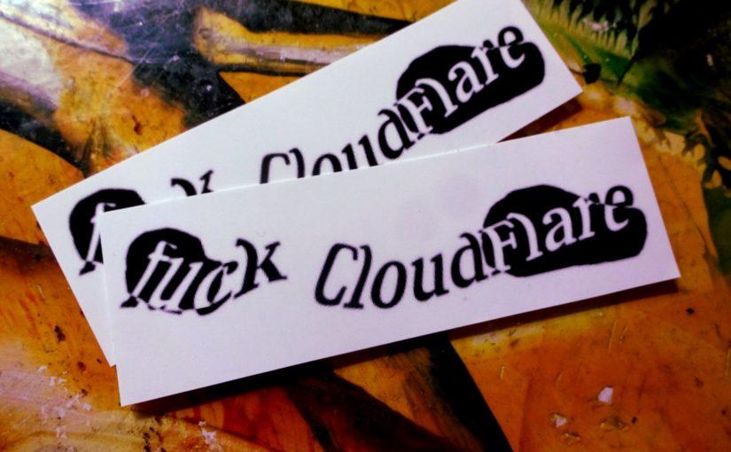 Bye, bye, CloudFlare